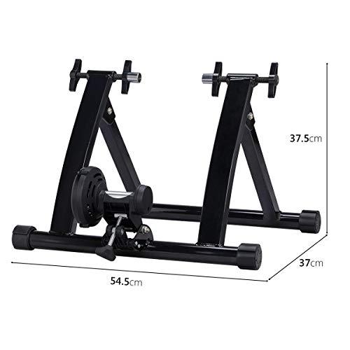 Yaheetech Stahl Rollentrainer Fahrrad Heimtrainer mit Magnetbremse, für Fahrräder 26″ bis 28″, Fahrradfahren zu Hause bis zu 150 Kg belastbar - 2