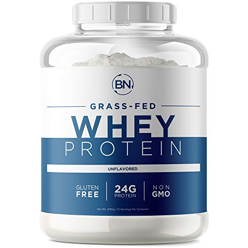 Grass Fed Whey Protein Powder - 100% Natural and Pure – 24g High Protein - 5lb/72 Servings - Cold Processed - Non-GMO - rBGH-Free - High Quality from Wisconsin USA - (Packaging May Vary)