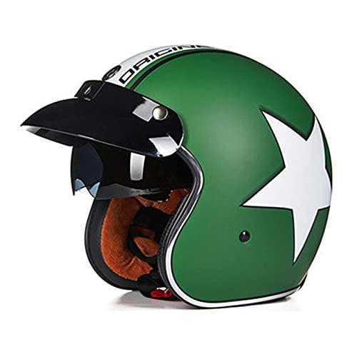 Casco de motocicleta Casco abierto aprobado por ECE/DOT casco retro jet con...