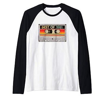 Best Of 1981 40th Birthday Gifts Cassette Tape Vintage Raglan Baseball Tee