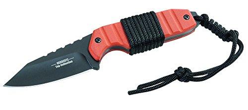Herbertz TOP-Collection Outdoor-Messer G10-Griffschalen mit Kordelwicklung Gesamtlänge: 17.5cm, Grau, M