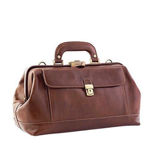 Chiarugi italienischen Leder Fronttasche Arzttasche (braun)