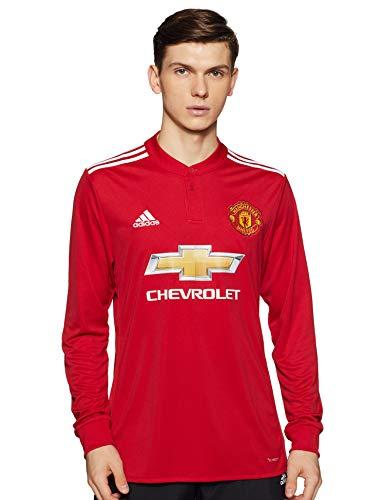adidas Herren Manchester United Heim Replica Langarm-Trikot, Real Red/White/Black, 2XL