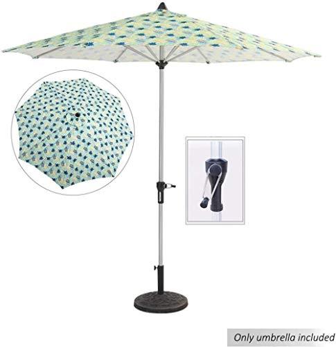 Ø 9 pieds / 2.7m Jardin Parapluie, imperméable extérieure et anti-UV Ombrelle Parasol, Parasol de plage avec manivelle, for la plage/piscine/terrasse parasol