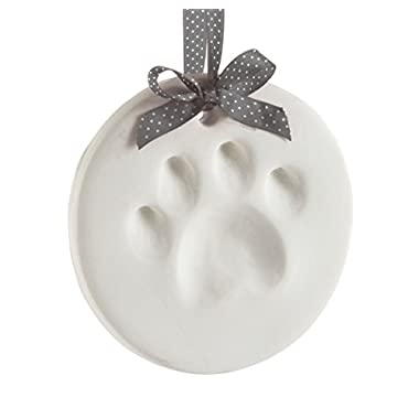 Pearhead Pet Paw Prints Dog Or Cat Paw Print Keepsake Ornament Round