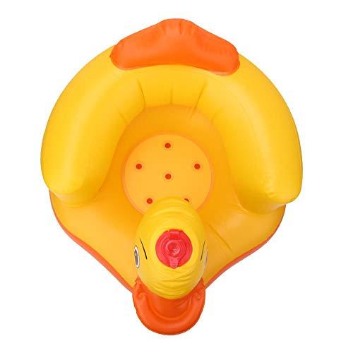 Nannday Divano Gonfiabile per Bambini, Sgabello per Bagnetto, Sedile Posteriore di Sicurezza, Anatra Gialla Cassaforte Durevole per Cortile da Bagno Parco(Oval Bottom Yellow)