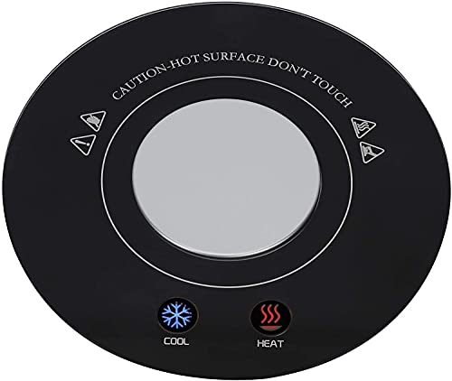 HMTRADE Calentador de Tazas de café para Escritorio, Calentador de Tazas de café, Calentador de Tazas USB, Posavasos de enfriamiento, Calentador de Tazas de Bebidas, Calentador de Tazas eléctrico,