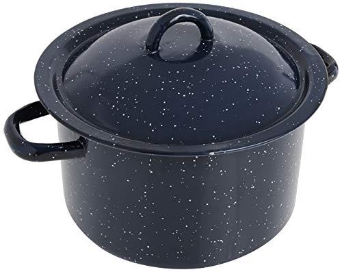 IMUSA USA Blue C20666-1063310W 6-Quart Speckled Enamel Stock Pot with Lid