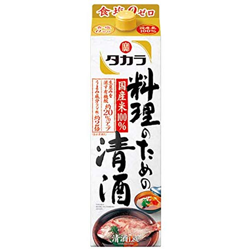 宝酒造 タカラ 料理のための清酒 紙パック 1800ml×6本入
