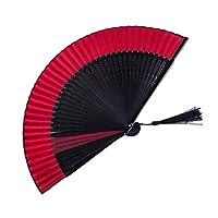 WMMING ダンス扇子の装飾工芸ホームデコレーション扇子のための中国の扇子装飾の手のファン 折りたたみ、多機能 (Color : B)