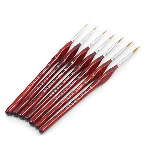 penseel set nagel kunst schilderen liner tekening penseel liner nagel schilderen houten handvat balpen, 9pcs