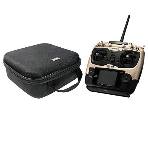 Radiolink AT9S PRO with Portable Case Handbag Rocker Mount 2.4G 12CH Remote Control RC Transmitter with R9DS Receiver for FPV DIY RC Drone Quadcopter Airplane (TX+CASE,Gold)