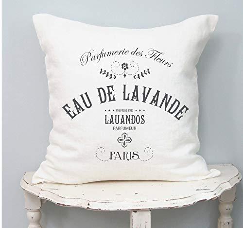 Landhausstil französischer Kissenbezug französischer Landhausstil Shabby Chic Kissen Französisch Antik Frühlingsdekor Französisch Leinen