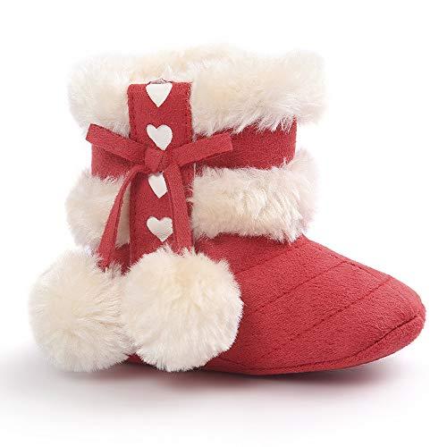 BaZhaHei Zapatillas de Niños Niña Bebé Suaves botas de nieve infantil niño...