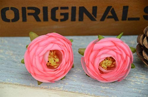AOA 30pcs/ 4cm Artificial Silk Rose Flower Heads For Home Wedding Decoration Fake Flowers,Pink