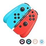 Mandos para Nintendo Switch, Bluetooth Wireless Controller Gamepad Joystick Controlador De Reemplazo Izquierdo Y Derecho para Joy Con, Dobl