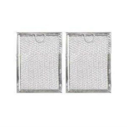 "GE WB06X10309 Microwave Filter Compatible WB06X10359 Mesh Grease 5"" x 7-5/8"" x 3/32"" 2-Pack"