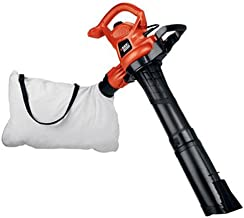 BLACK+DECKER 3-in-1 Electric Leaf Blower, Leaf Vacuum, Mulcher, 12-Amp (BV3600)