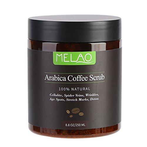 Body Scrub Pure Natural Arabica Coffee Sales del Mar Muerto para una limpieza profunda, hidratante, exfoliante, anticelulítico, reduce las estrías Arrugas Cuidado de la piel