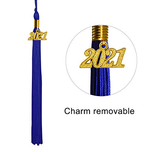 GraduationMall Toga y Birrete Graduacion Adulto 2021 con Borla Gorro Graduacion Unisex para Bacholr de Secundaria y Universidad