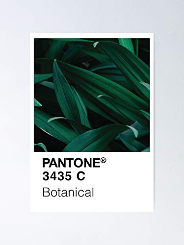 AZSTEEL Color Swatch - Green Botanical Plant Poster
