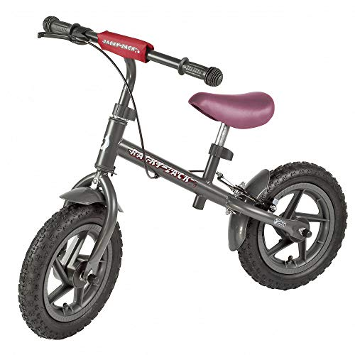12'' Vélo de marche / Bicycle / Draisienne sans Pédales GRIS RACKY ZACK pour apprendre l'équilibre, pour enfants 35 kg