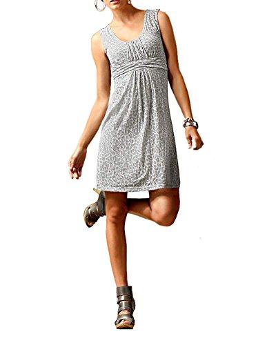 Heine Damen-Kleid Ausbrennerkleid Grau Größe 34