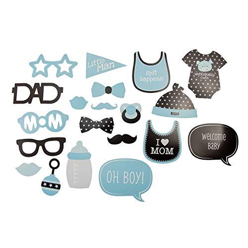 Oblique Unique® 20 Fotorequisiten Foto Props Booth Masken für Baby Shower Party Neugeborene Junge Foto Accessoires Verkleidungen