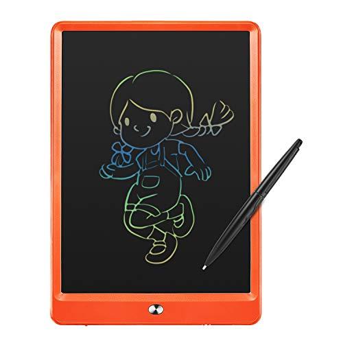 iReaplacement LCD-schrijfbord, 10 inch draagbare grafisch tablet zonder papieren, verwijderbare schrijftablet met 2 stylusstiften, kinderen jongens meisjes school oranje