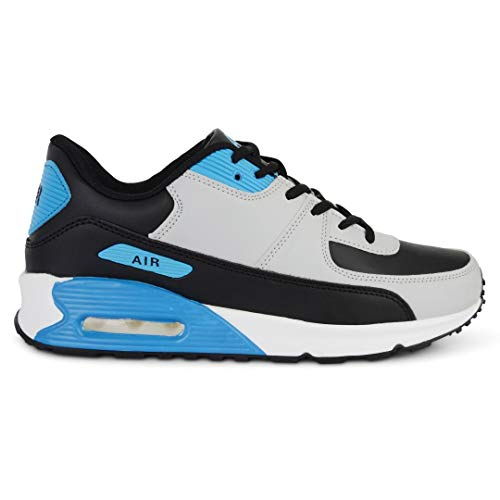 Mens Shock Absorbing Running Shoe Trainers Jogging Gym Fitness Trainer New Shoes UK Sizes 7-11 (9 UK, Light Grey)