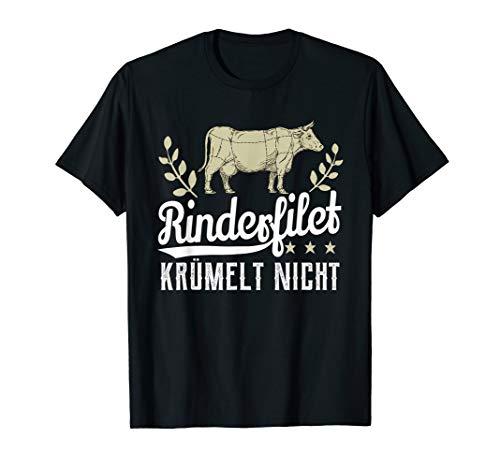 Rinderfilet krümelt nicht - Grillen BBQ Grillmeister T-Shirt