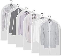 JIESMART Hanging Garment Bag Lightweight Suit Bags Anti-Moth (Set of 6) with Study Full Zipper for Closet Storage and Trav...