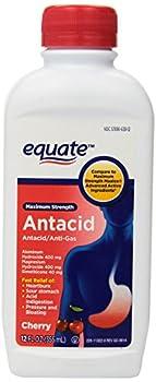Equate Maximum Strength Antacid Cherry Liquid 12 fl oz.