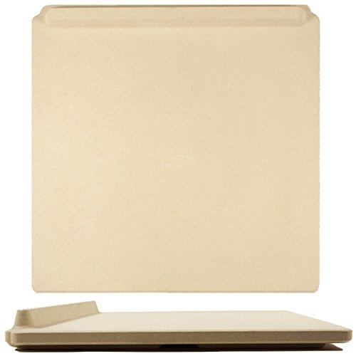 Der ultimative rechteckige Pizza Stein, 35 x 40 cm, zum Kochen & Backen im Ofen & Grill. Exklusiver ThermaShock-Schutz und Kernkonvektionstechnologie für eine knusprige Kruste und Rutsch-Stop