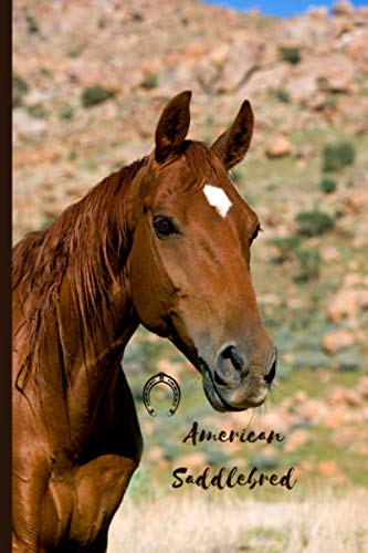 American Saddlebred: Journal and Notebook - Composition Size (6'x9') With 120 Lined Pages, Perfect for Journal, Doodling, Sketching and Notes