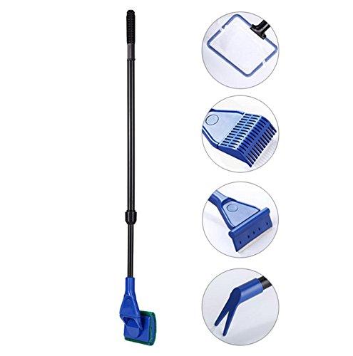 chytaii herramientas Kits de limpieza para acuario–pecera de multifuncional accesorios–havenet, pinzas, rastrillo, raclette, cepillo 5en 1