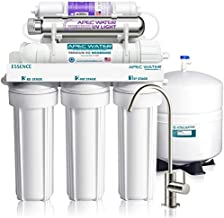 APEC Water Systems ROES-PHUV75 Essence Series Top Tier Alkaline Mineral and Ultra-Violet UV Sterilizer 75 GPD 7-Stage Ultra Safe Reverse Osmosis Drinking Water Filter System,white