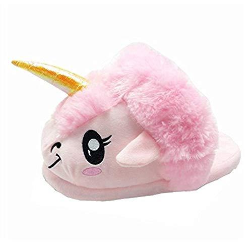 Super Fashion Einhorn Schafe Schuhe weichen Plüsch Hausschuhe Einhorn Erwachsene Geschenke (Pink)