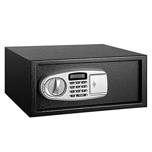 GQTYBZ Caja Fuerte Digital, Caja Fuerte con Placa de Acero Macizo, Antirrobo y Anti-Palanca, con Teclado Digital Bloqueo de Teclas de Seguridad Caja Fuerte a Prueba de Fuego, para El Hogar, Negocios