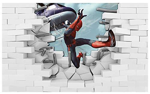 Cartoon Anime behang Spider-man karakter muurschildering Ktv-spel behang TV achtergrond wanddoek (H) 350 * (W) 245cm Pro