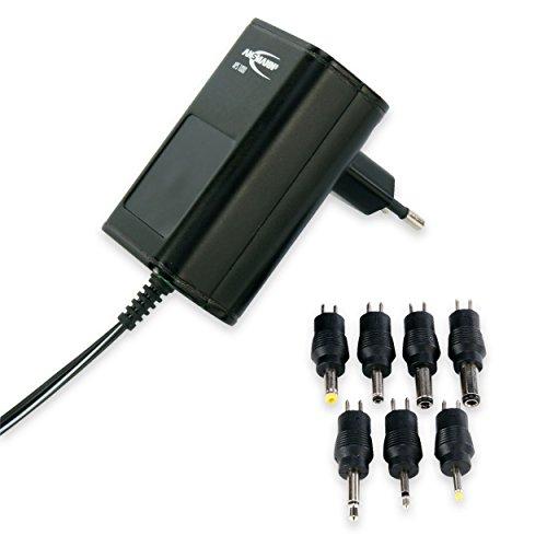 ANSMANN APS 1000 Universal Stecker Netzteil 12V inkl. 7 verschiedende Adapter Stecker - Netzstecker bis max. 1000mA - Netzadapter zur Stromversorgung vieler Elektrokleingeräte von 3-12 Volt regelbar