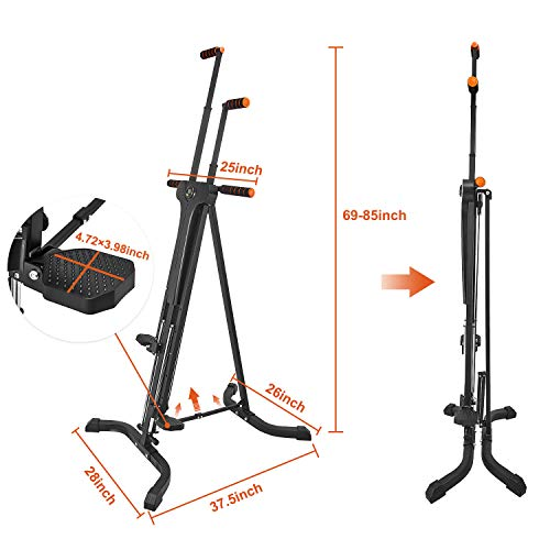 Product Image 7: RELIFE REBUILD YOUR LIFE Vertical Climber for Home Gym Folding Exercise Cardio Workout Machine Stair Stepper Newer Version