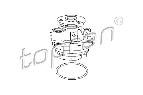 TOPRAN Wasserpumpe, 301 512
