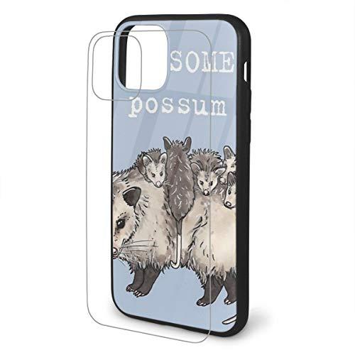 Genertic Possum - Cover Posteriore Opaca per iPhone in Vetro TPU, con Struttura in Morbido Poliuretano termoplastico, Antiscivolo, Anti-Impronte, Anti-Caduta, Colore: Nero