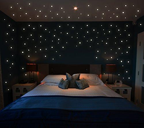 Leuchtsterne Wandtattoo Sterne 355 Stk. fluoreszierend leuchtende Sterne Sternenhimmel Sternensticker M1172