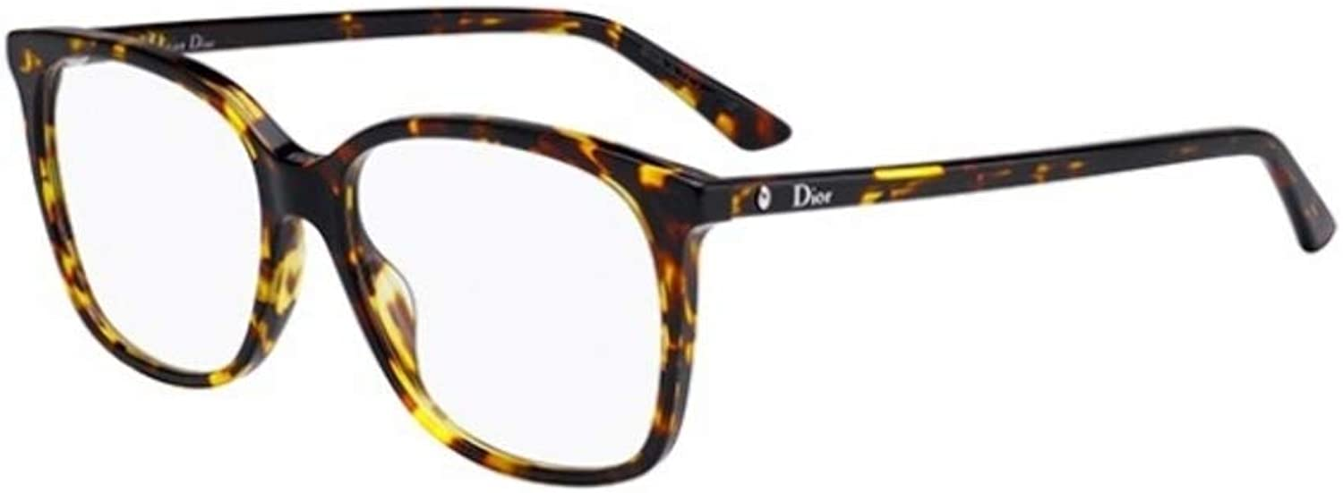 Dior MONTAIGNE 55 YELLOW HAVANA women Eyewear Frames