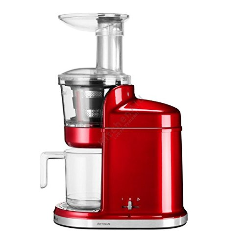 KitchenAid 5KVJ0111ECA - Exprimidor eléctrico, 80 RPM, 250 W, color rojo