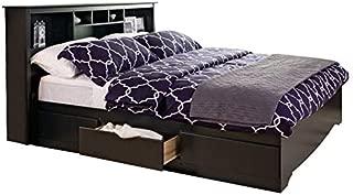 Prepac Sonoma King Bookcase Platform Storage Bed in Black