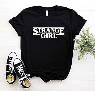 Strange Girl Print Women Tshirt Cotton Casual Funny T Shirt Lady Yong Girl 6 Colors Drop Ship