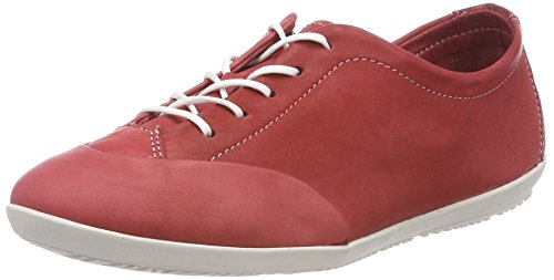 Softinos Damen OPS421SOF Washed Oxfords, Rot (Red), 42 EU